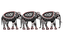 Elephant pattern Stock Photography