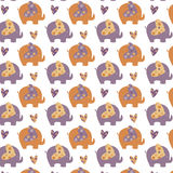 Elephant pattern Stock Images