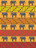 Elephant Pattern Royalty Free Stock Photos