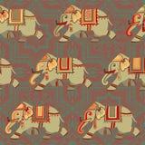 Elephant pattern Royalty Free Stock Photography