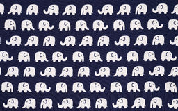 Elephant pattern fabric Royalty Free Stock Images