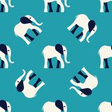 Elephant pattern. Seamless vector pattern with a stylized elephant figure Stock Photos