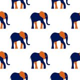 Elephant pattern. Seamless vector pattern with a stylized elephant figure Stock Images