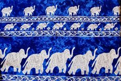 Elephant pattern thai style background Stock Photo