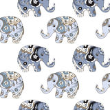 Elephant pattern Royalty Free Stock Image