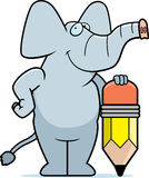Elephant Pencil Stock Images