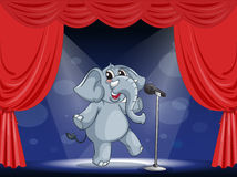 An elephant performing on the stage Royalty Free Stock Image