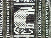 Elephant picture. Elephant drawing handy craft carpet stock photo