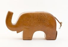 Elephant piggy bank. Piggy bank in shape of elephant - gift from India Royalty Free Stock Photography