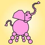 elephant pink иллюстрация вектора