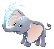 Elephant Playing Animal Cartoon Character Royalty Free Stock Images