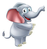 Elephant Pointing Stock Photo