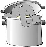 Elephant In A Pot Stock Photography