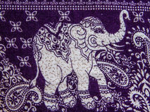 Elephant print fabric Royalty Free Stock Image