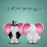 Elephant prososes marriage Royalty Free Stock Images