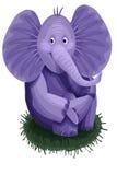 Elephant purple character cartoon style  illustration Stock Photo