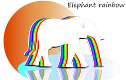 Elephant rainbow Royalty Free Stock Images