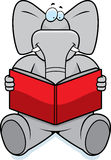 Elephant Reading Royalty Free Stock Photography