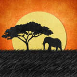 Elephant recycled paper background Stock Images