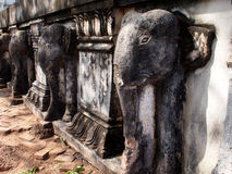 Elephant Relief Sculptures at Khmer Temple Royalty Free Stock Photos