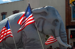 Republican elephant and american flag Royalty Free Stock Images