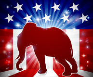 Elephant Republican Political Mascot vector illustration