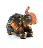 Elephant resin with gemstone Stock Image