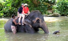 Elephant ride Royalty Free Stock Photography