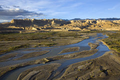 Elephant river and clay forest in Tibet Stock Photos