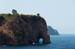 The elephant rock. This elephant rock is from the island of Azores Royalty Free Stock Photos