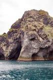 Elephant Rock, a natural basalt rock, Heimaey, Iceland Royalty Free Stock Photos