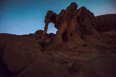 Elephant Rock at Night side view. Elephant Rock at Night- Valley of Fire Overton Nevada Stock Images