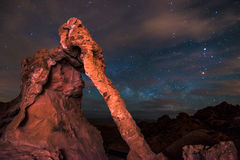 Elephant Rock at night Valley of Fire Nevada Royalty Free Stock Image