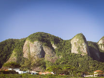 The Elephant Rock, Niteroi City, Brazil Stock Photography