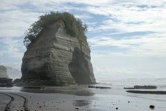 Elephant Rock on The Three Sister Heritage Trail. Elephant Rock. Iconic North Taranaki rock formation stock photography