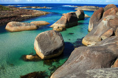 Elephant Rocks. Rocks on the coast of Australia Royalty Free Stock Photo