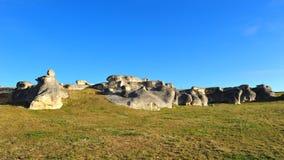 Elephant rocks in New Zealand Stock Photos