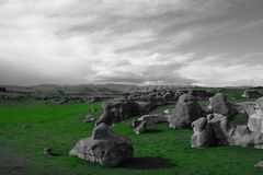 Elephant Rocks. In Otago, New Zealand royalty free stock images