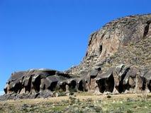 Elephant rocks in Patagonia, on the way to Perito Moreno Glacier royalty free stock photography