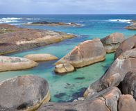 Elephant Rocks: Turquoise Great Southern Ocean royalty free stock photo