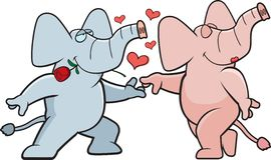 Elephant Romance Stock Image