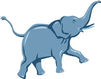 Elephant run Royalty Free Stock Images