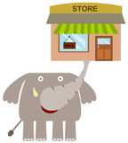 Elephant's store Royalty Free Stock Photo