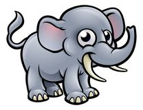 Cartoon Elephant Character Stock Photos