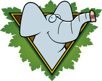 Elephant Safari Icon Royalty Free Stock Images