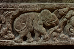 Elephant sandstone carvings Royalty Free Stock Photography