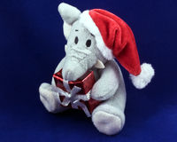 Elephant Christmas soft toy Stock Photography