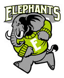 Elephant school mascot Stock Photos