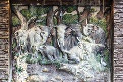 Elephant sculptors Stock Photos