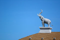 Elephant sculpture. On the roof Royalty Free Stock Images